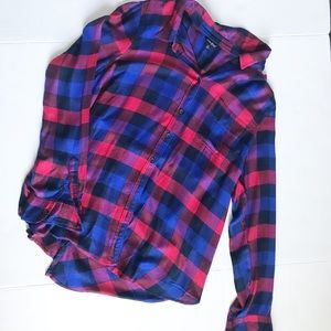 Lucky Brand Plaid Flannel Button Up